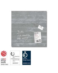 sigel Glas-Magnetboard / Magnettafel artverum® Sichtbeton 48x48 cm