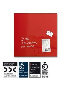 sigel Glas-Magnetboard / Magnettafel artverum® rot 100x100 cm