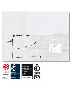 sigel Glas-Magnetboard / Magnettafel artverum® super-weiß 120x90 cm