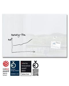 sigel Glas-Magnetboard / Magnettafel artverum® supr-weiß 150x100 cm