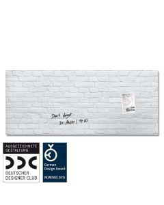 sigel Glas-Magnetboard / Magnettafel artverum® White-Klinker 130x55 cm