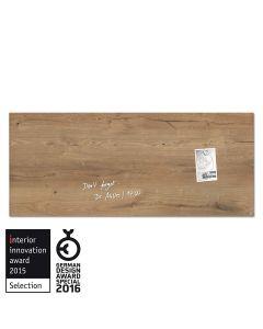 sigel Glas-Magnetboard / Magnettafel artverum® Natural-Wood 130x55 cm