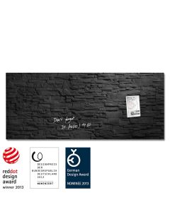 sigel Glas-Magnetboard / Magnettafel artverum® Schiefer-Stone 130x55 cm