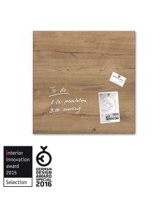 sigel Glas-Magnetboard / Magnettafel artverum® Natural-Wood 48x48 cm