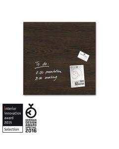 sigel Glas-Magnetboard / Magnettafel artverum® Dark-Wood 48x48 cm