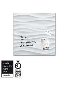 sigel Glas-Magnetboard / Magnettafel artverum® White-Wave 48x48 cm