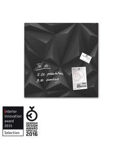 sigel Glas-Magnetboard / Magnettafel artverum® Black-Diamond 48x48 cm