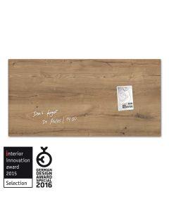 sigel Glas-Magnetboard / Magnettafel artverum® Natural-Wood 91x46 cm
