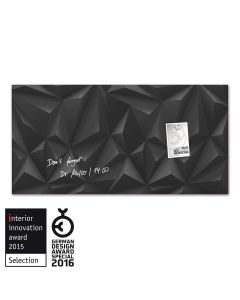 sigel Glas-Magnetboard / Magnettafel artverum® Black-Diamond 91x46 cm