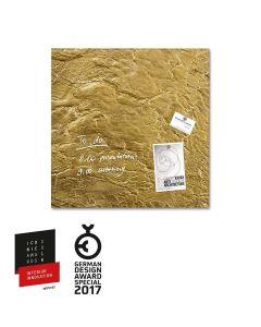 sigel Glas-Magnetboard / Magnettafel artverum® Metallic-Gold 48x48 cm