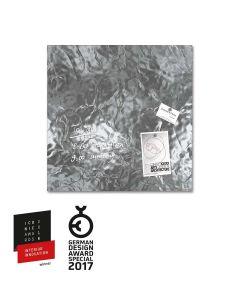 sigel Glas-Magnetboard / Magnettafel artverum® Shiny-Silver 48x48 cm