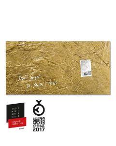 sigel Glas-Magnetboard / Magnettafel artverum® Metallic-Gold 91x46 cm