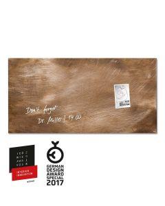 sigel Glas-Magnetboard / Magnettafel artverum® Used-Bronze 91x46 cm