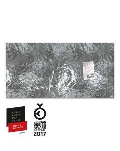 sigel Glas-Magnetboard / Magnettafel artverum® Shiny-Silver 91x46 cm