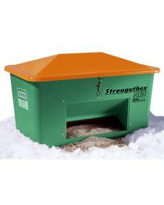 CEMO Streugutbehälter grün von 550 l bis 2200 l, mit Entnahmeöffnung