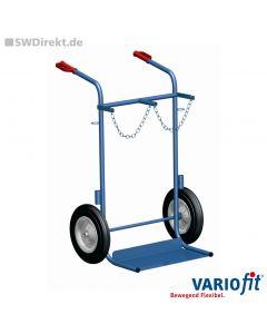 Stahlflaschenkarre für 2x40-50 Liter, 200 kg Tragkraft