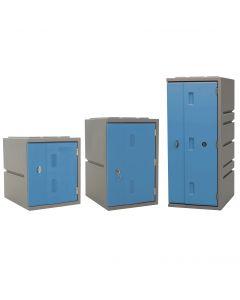Kunststoff-Schließfächer Bloxz, blau