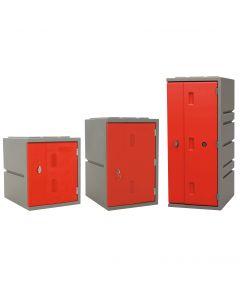 Kunststoff-Schließfächer Bloxz, rot