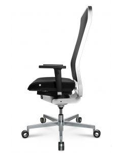 WAGNER Bürodrehstuhl  W1 High - Rückenlehne Netz / Sitzfläche Leder