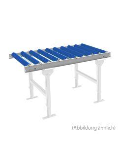 Leicht-Rollenbahn LxB 1000x600 mm Kunststoffrollen 125 mm Achsabstand