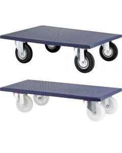 Möbelroller max. 600 kg, Kunststoff- oder Vollgummiräder