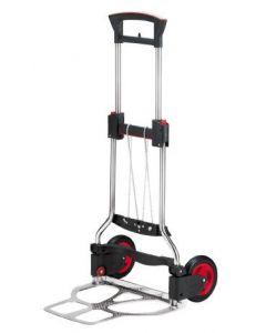 Klappbare Edelstahl-Transportkarre RuXXac® Exclusive by SECO mit pannensicherer Bereifung 125 kg