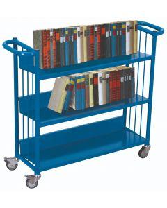 Büchertransportwagen mit 3 Etagen, 150 kg Traglast