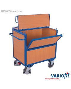 Holzkastenwagen 500 kg Tragkraft, Deckel 2-fach klappbar