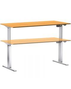Arbeitstisch elektrisch höhenverstellbar 70-116 cm, Tischplatte Buche Dekor