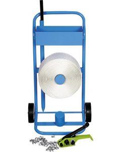 Polyester-Kraftband-Komplettsystem mit Abrollwagen