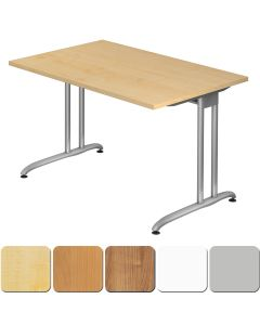 Schreibtisch 120x80 cm mit Design-C-Fuß-Gestell