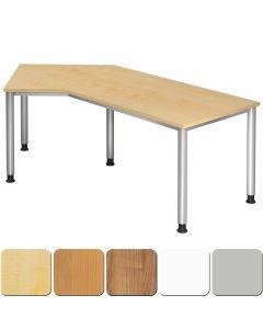Schreibtisch 210x113 cm inkl. 1 Kabeldose, Platte rechts oder links montierbar