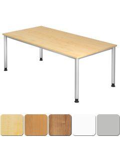 Schreibtisch XXL 200x100 cm mit 4-Fuß-Gestell