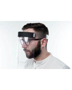 Gesichtsschutz / Spritzschutz aus klarsichtiger Polyesterfolie