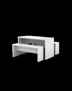 """Besuchertisch-Set """"Meeting Point"""" bestehend aus Tisch und 2 Sitzbänken"""