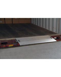 Aluminium-Überladebrücke für geringe Höhenunterschiede