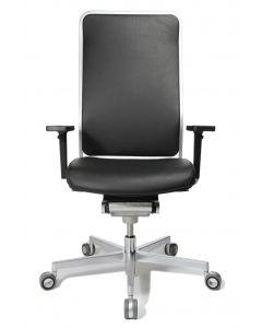 WAGNER Bürodrehstuhl  W1 High - Rückenlehne Leder / Sitzfläche Leder
