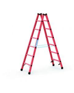 Kunststoff-Stehleiter GFK mit 2x6 Sprossen, Arbeitshöhe bis 3,1 m