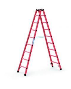 Kunststoff-Stehleiter GFK mit 2x8 Sprossen, Arbeitshöhe bis 3,65 m