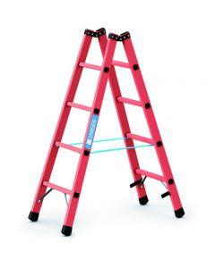 Kunststoff-Stehleiter GFK mit 2x4 Sprossen, Arbeitshöhe bis 2,6 m