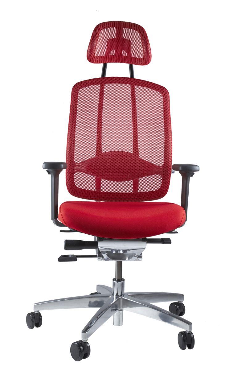 Wagner AluMedic 10 Bürodrehstuhl mit Kopfstütze rot