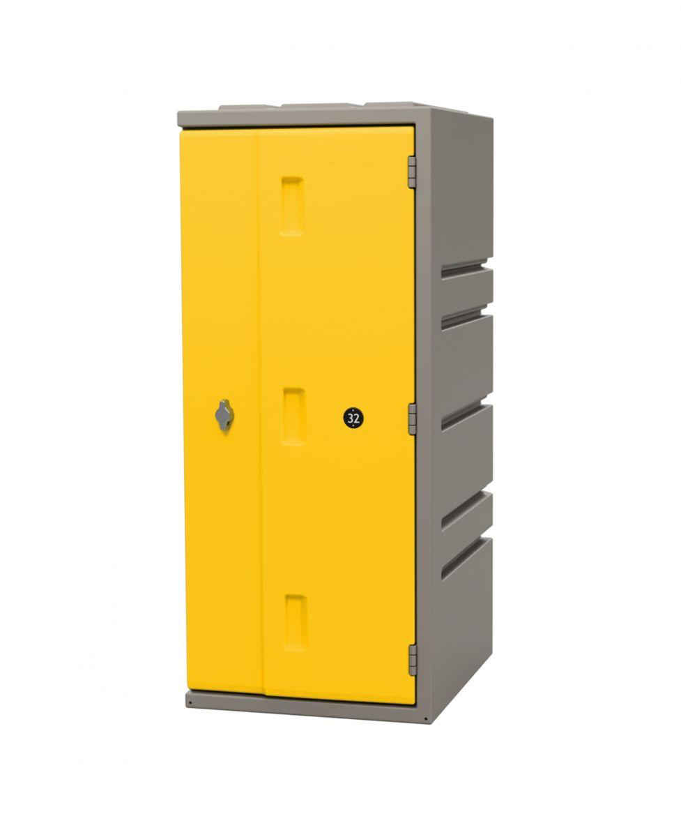 Kunststoff-Schließfach Bloxz, gelb HxBxT 910x385x470 mm