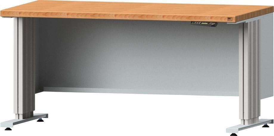 Arbeitstischsystem Lift, Buche-Massivplatte, Breite: 1500 mm