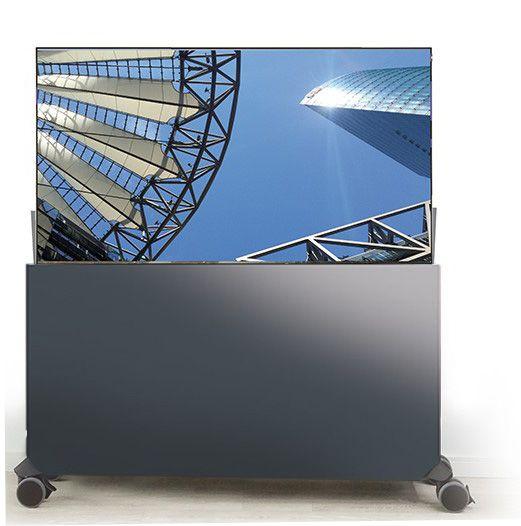 Liftboard auf Rollen inkl. 43 Zoll Flachbildschirm anthrazit