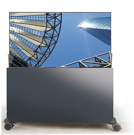 Liftboard auf Rollen inkl. 55 Zoll Flachbildschirm anthrazit