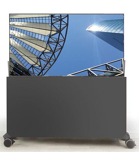 Liftboard auf Rollen inkl. 55 Zoll Flachbildschirm schwarz