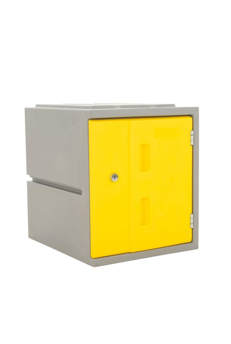 Kunststoff-Schließfach Bloxz, gelb HxBxT 460x385x470 mm