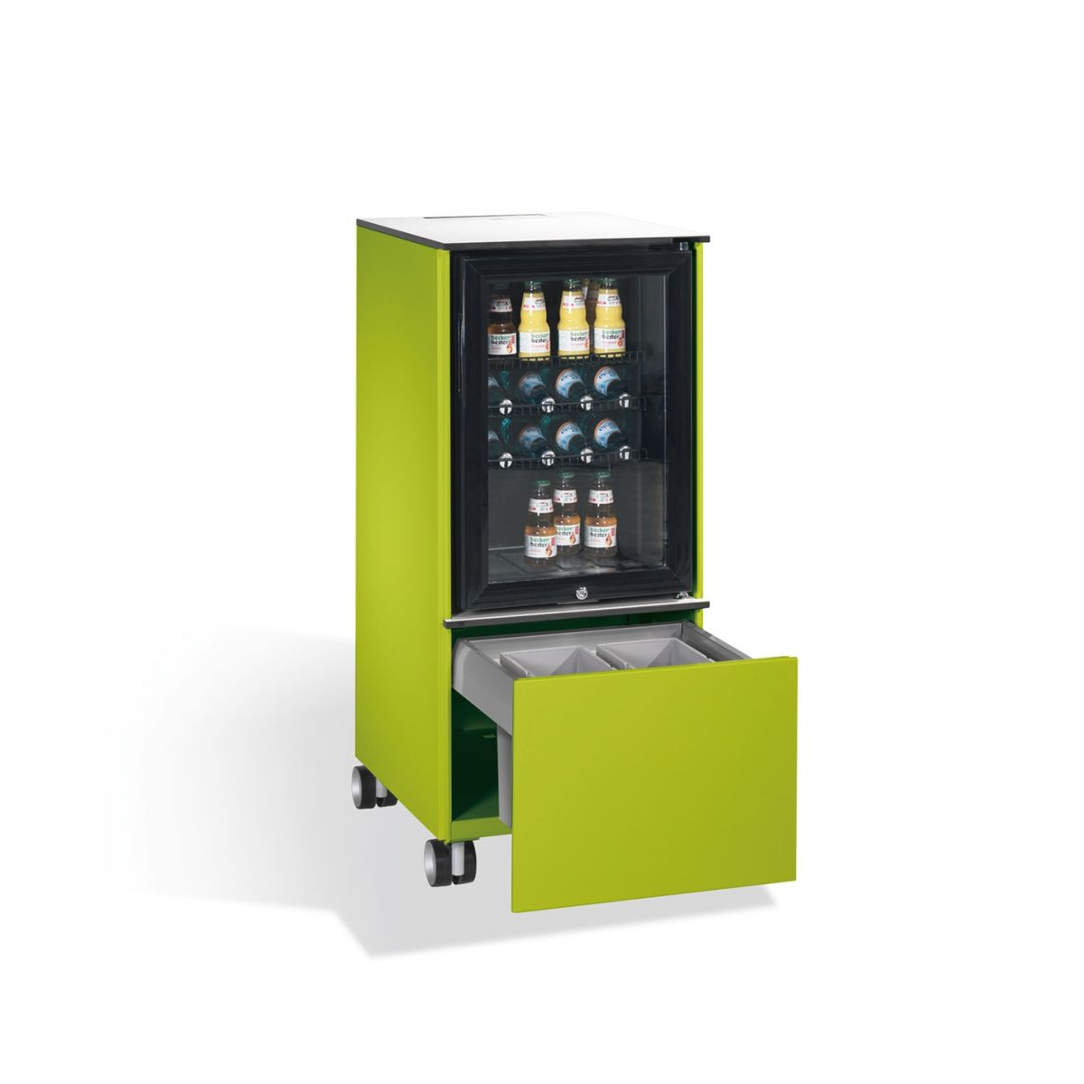 Kühlschrank Caddy mit Abfallsammler viridingrün + GRATIS Bahlsen BOX