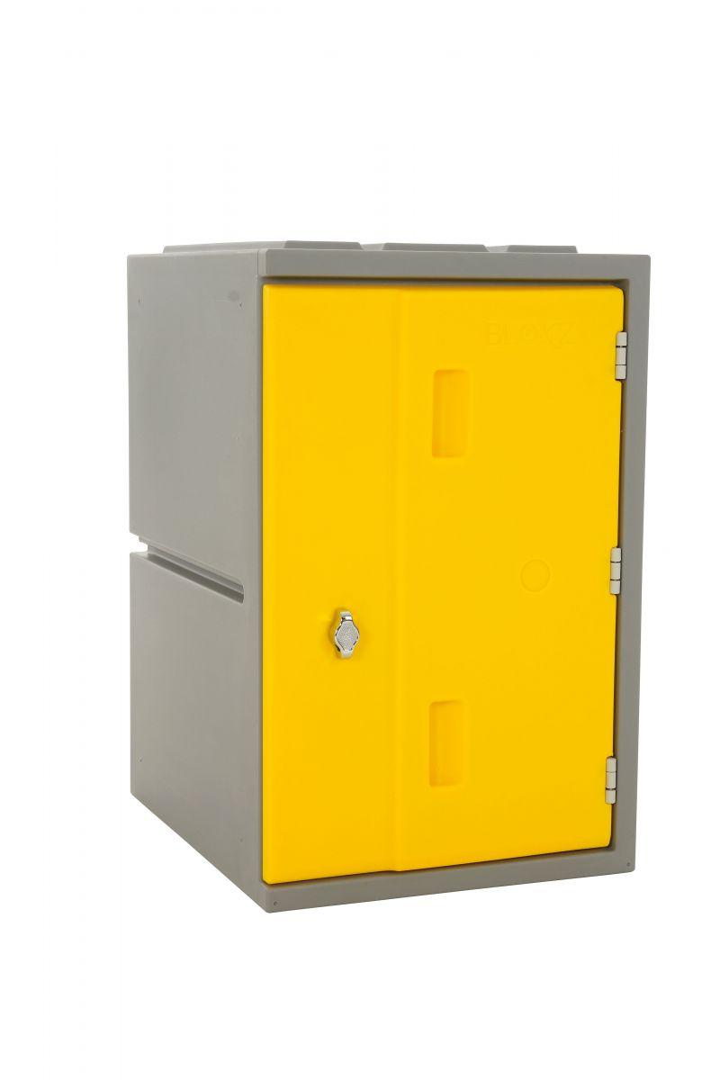 Kunststoff-Schließfach Bloxz, gelb HxBxT 610x385x470 mm