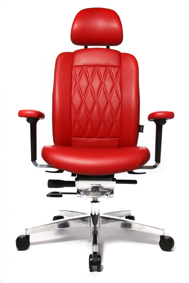Wagner AluMedic Limited S Bürodrehstuhl mit Kopfstütze rot